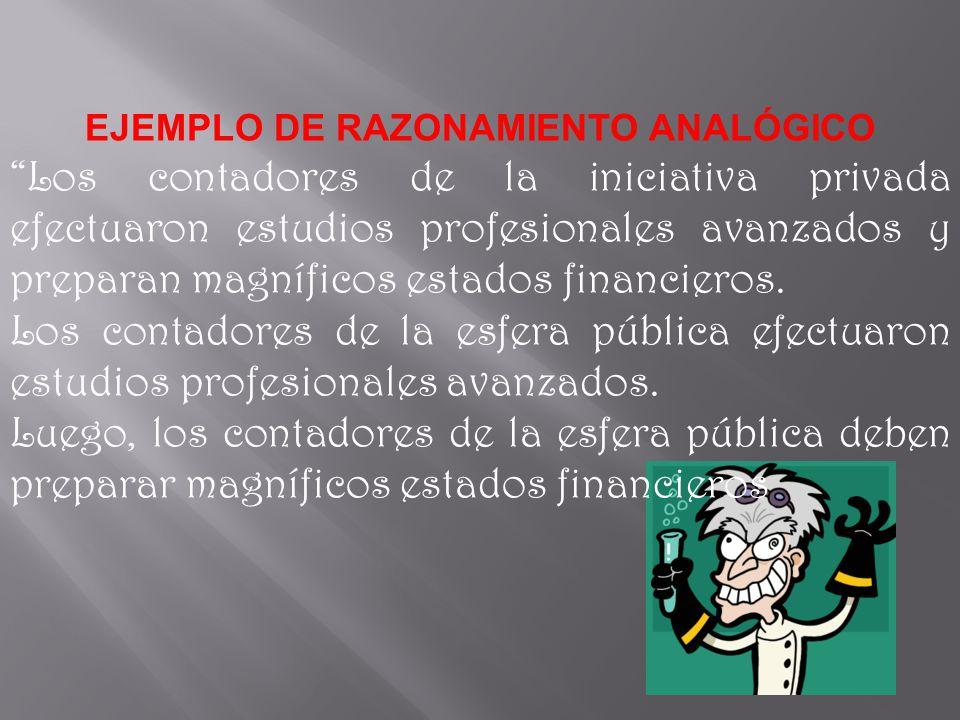 EJEMPLO DE RAZONAMIENTO ANALÓGICO