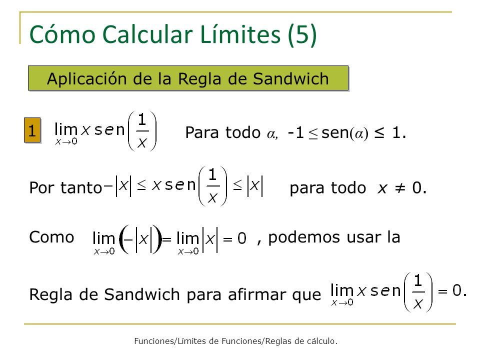 Cómo Calcular Límites (5)
