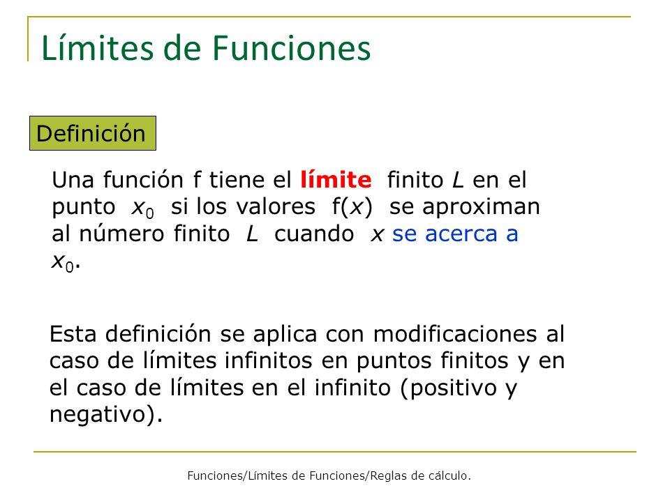 Funciones/Límites de Funciones/Reglas de cálculo.