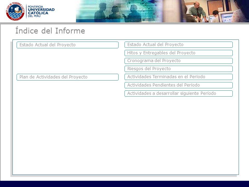Índice del Informe Estado Actual del Proyecto