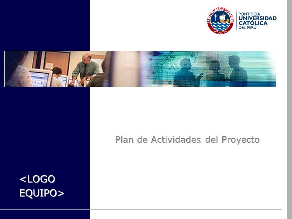 Plan de Actividades del Proyecto