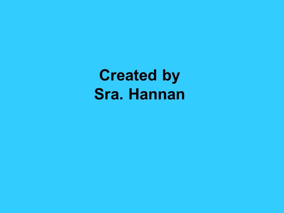 Created by Sra. Hannan
