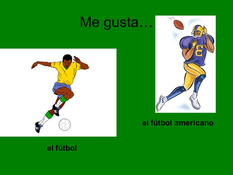 Me gusta… el fútbol americano el fútbol