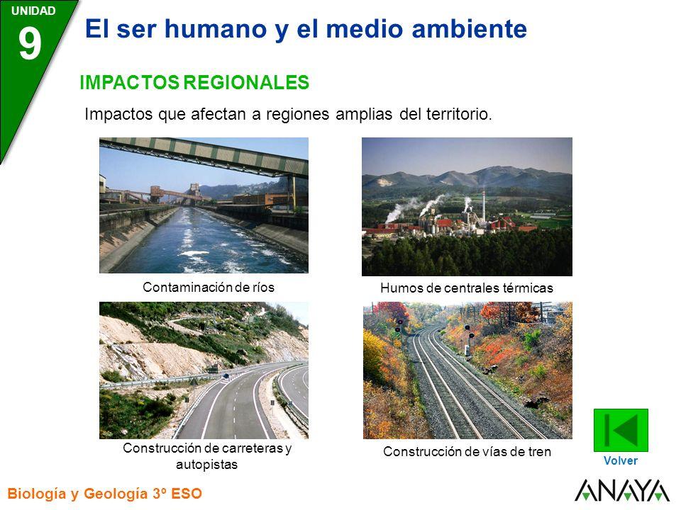 9 El ser humano y el medio ambiente IMPACTOS REGIONALES