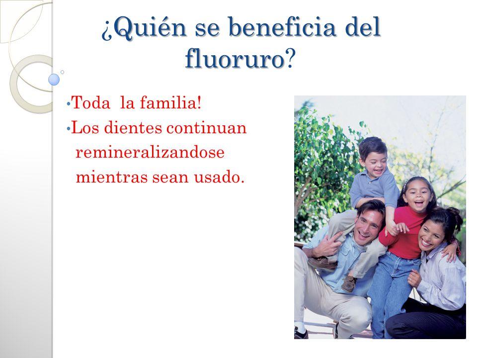 ¿Quién se beneficia del fluoruro