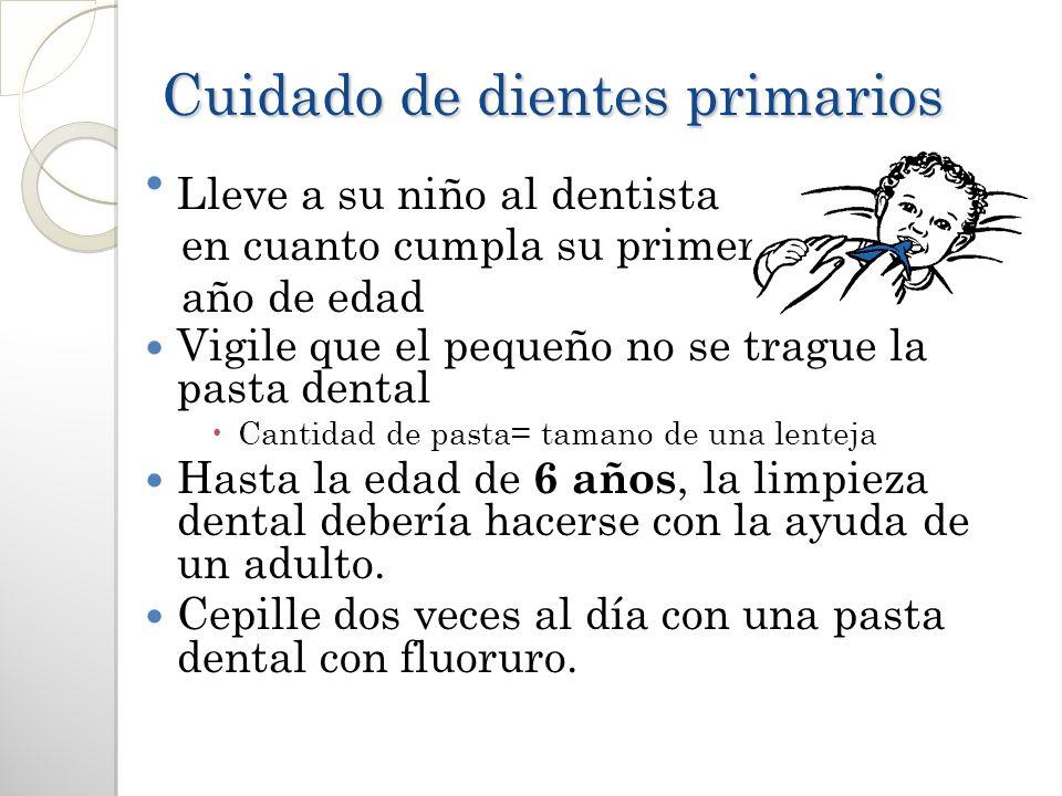 Cuidado de dientes primarios