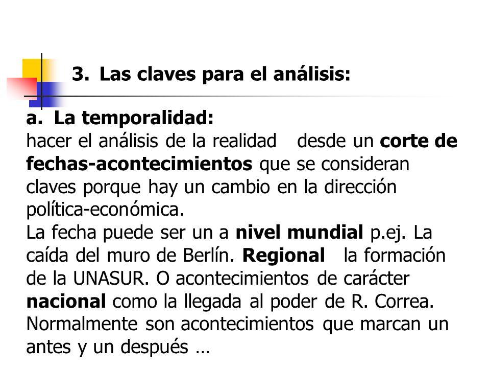 Las claves para el análisis: