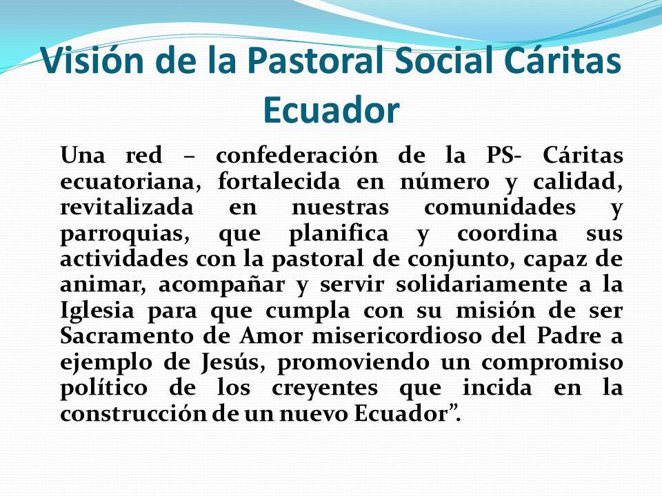 Visión de la Pastoral Social Cáritas Ecuador