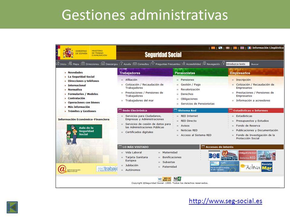 Gestiones administrativas
