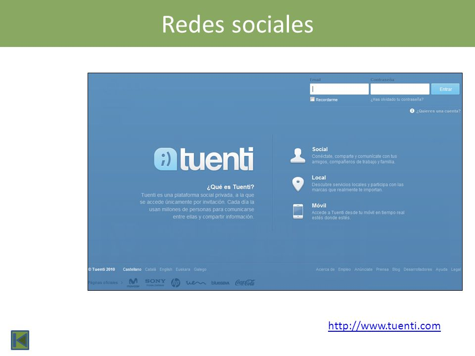 Redes sociales http://www.tuenti.com