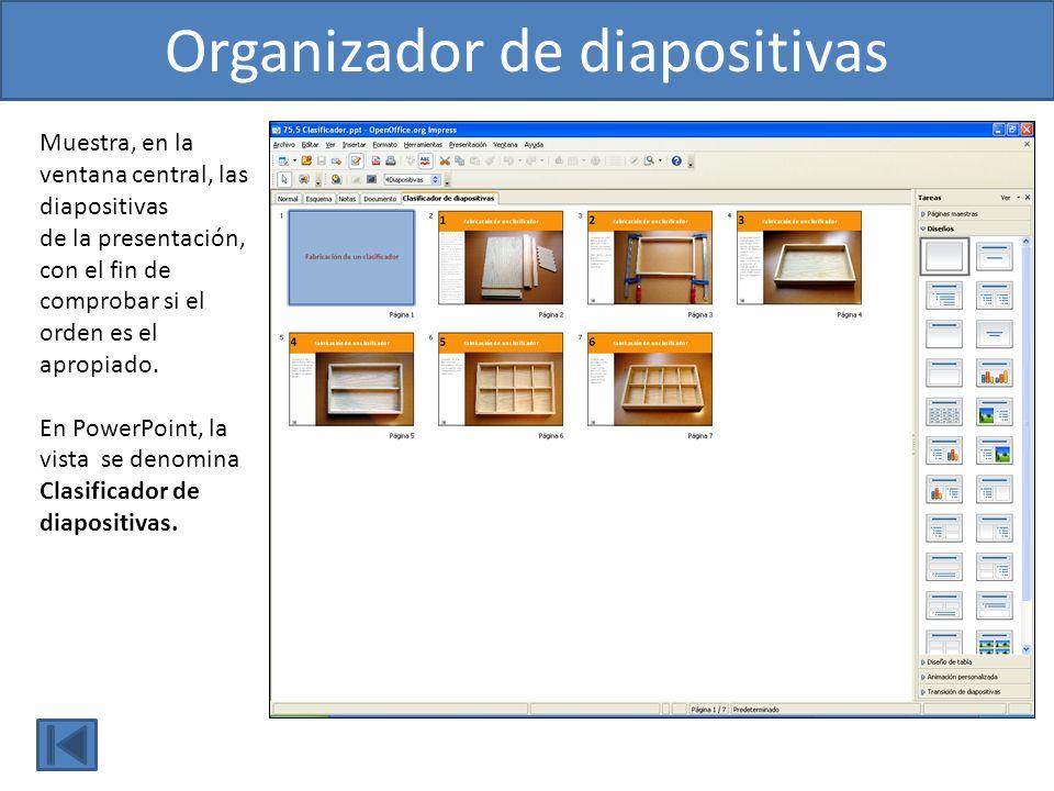 Organizador de diapositivas