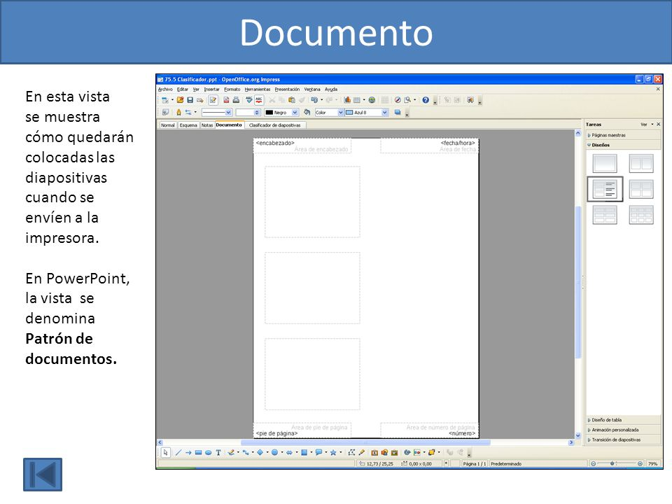Documento En esta vista