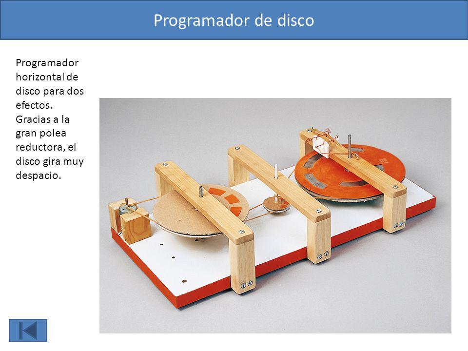 Programador de disco Programador horizontal de disco para dos efectos.