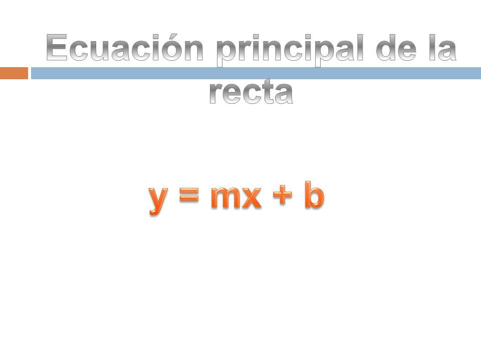 Ecuación principal de la recta