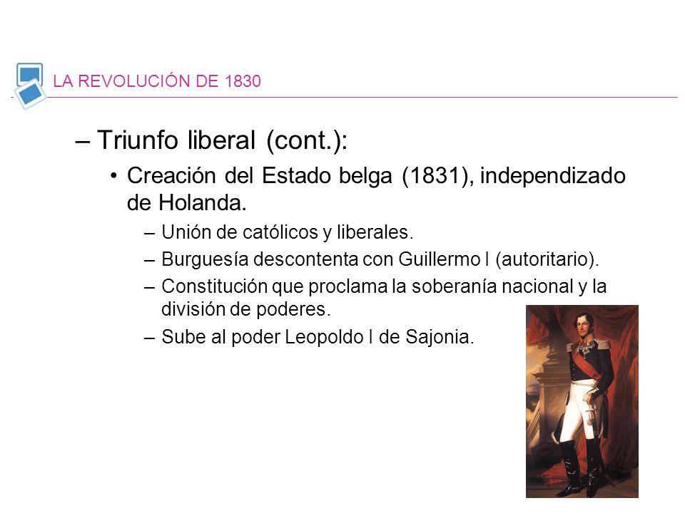 Triunfo liberal (cont.):