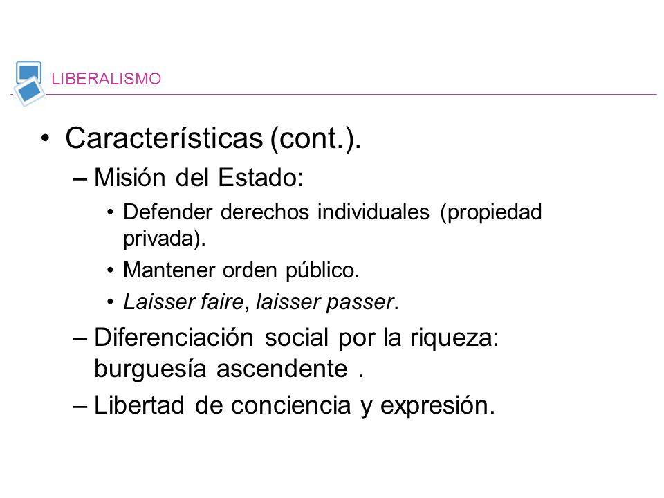 Características (cont.).