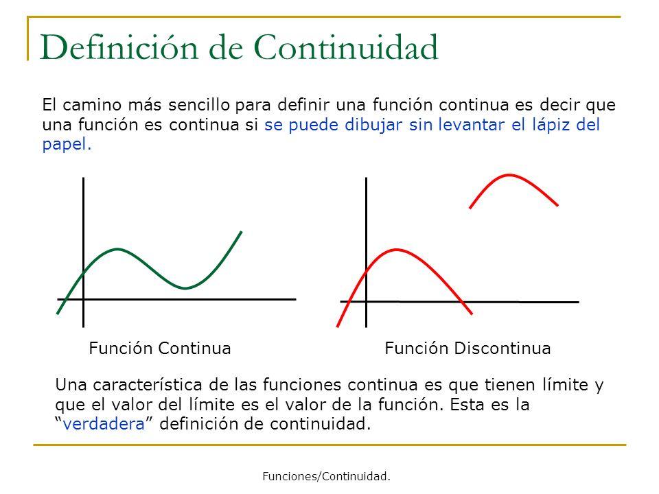 Definición de Continuidad