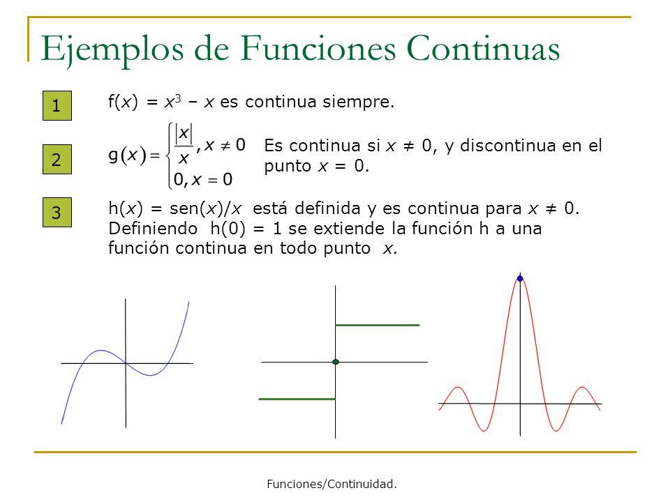 Ejemplos de Funciones Continuas