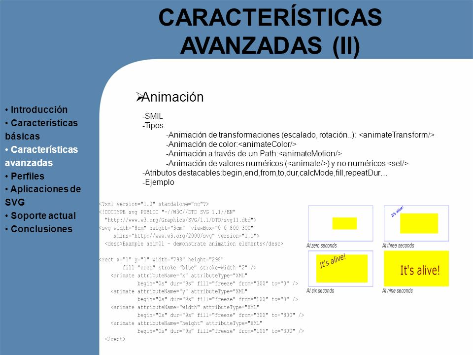 CARACTERÍSTICAS AVANZADAS (II)
