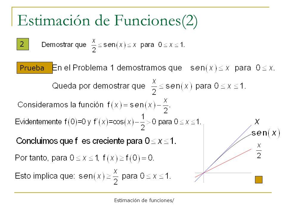 Estimación de Funciones(2)