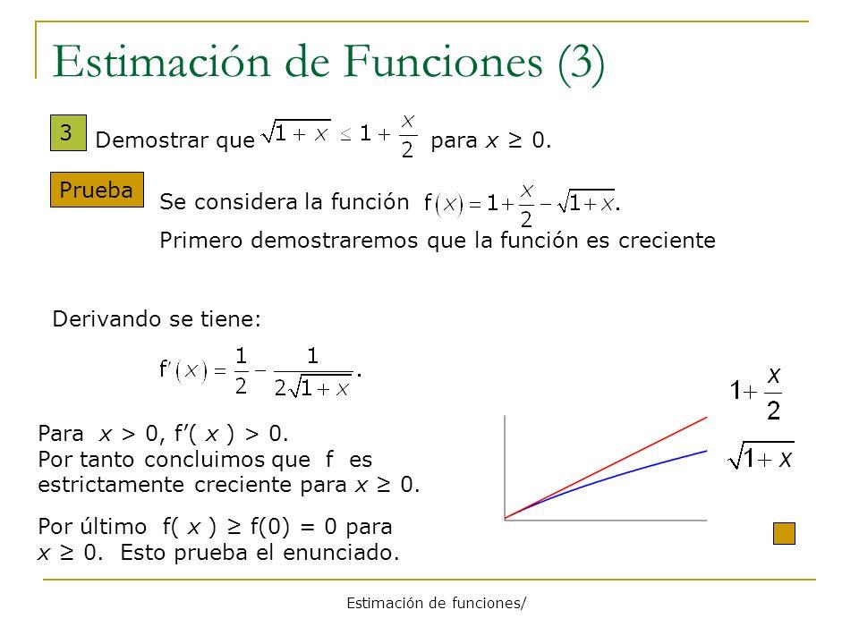 Estimación de Funciones (3)