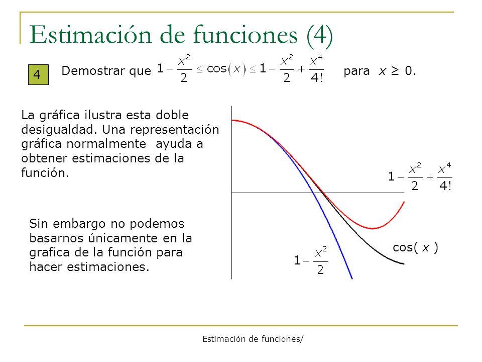 Estimación de funciones (4)