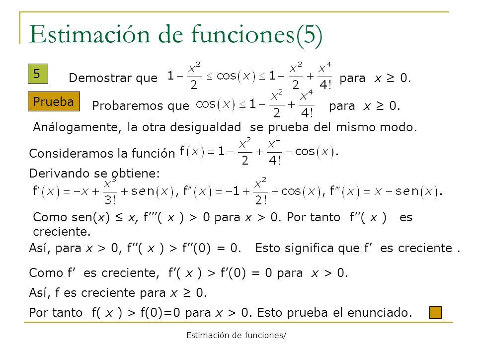 Estimación de funciones(5)