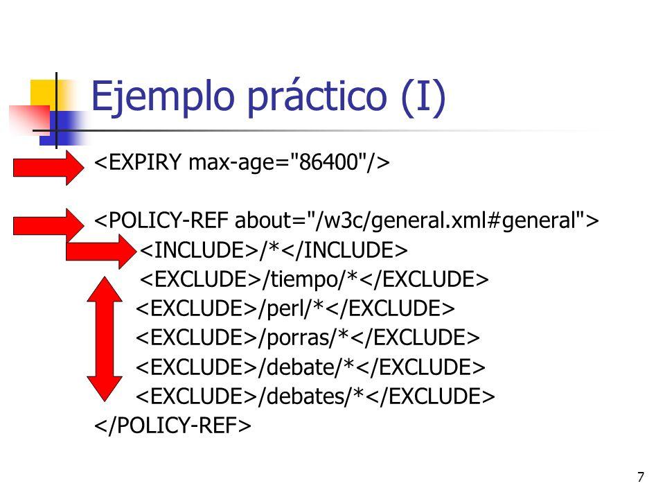 Ejemplo práctico (I) <EXPIRY max-age= 86400 />