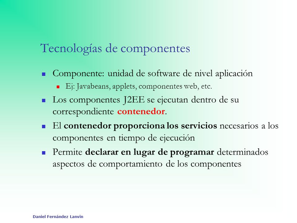 Tecnologías de componentes