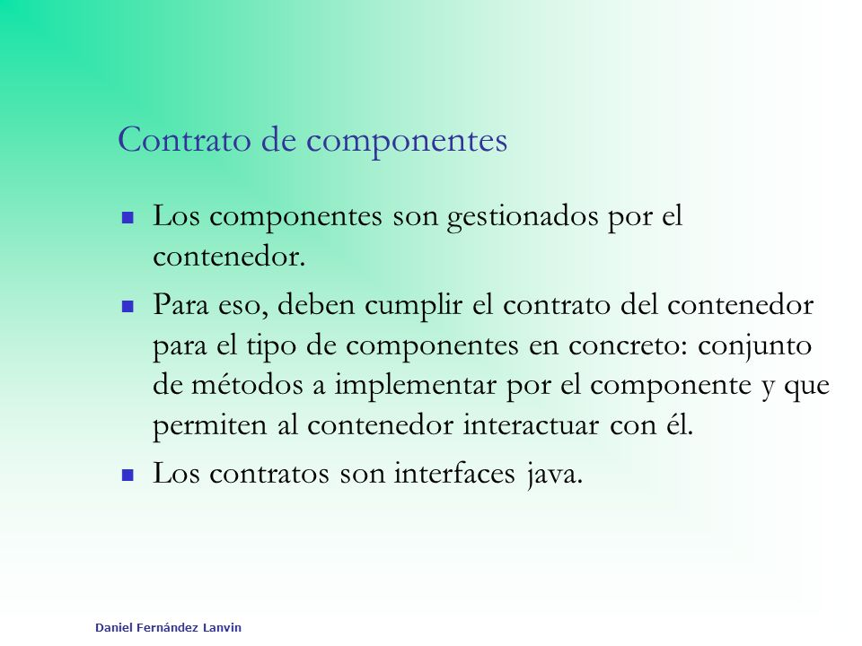 Contrato de componentes