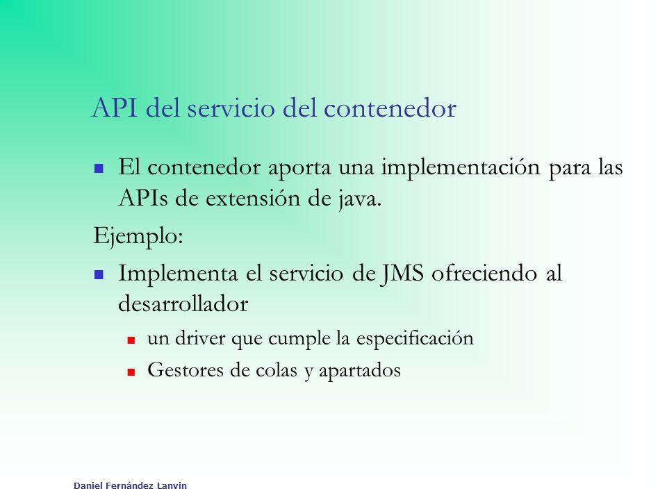 API del servicio del contenedor
