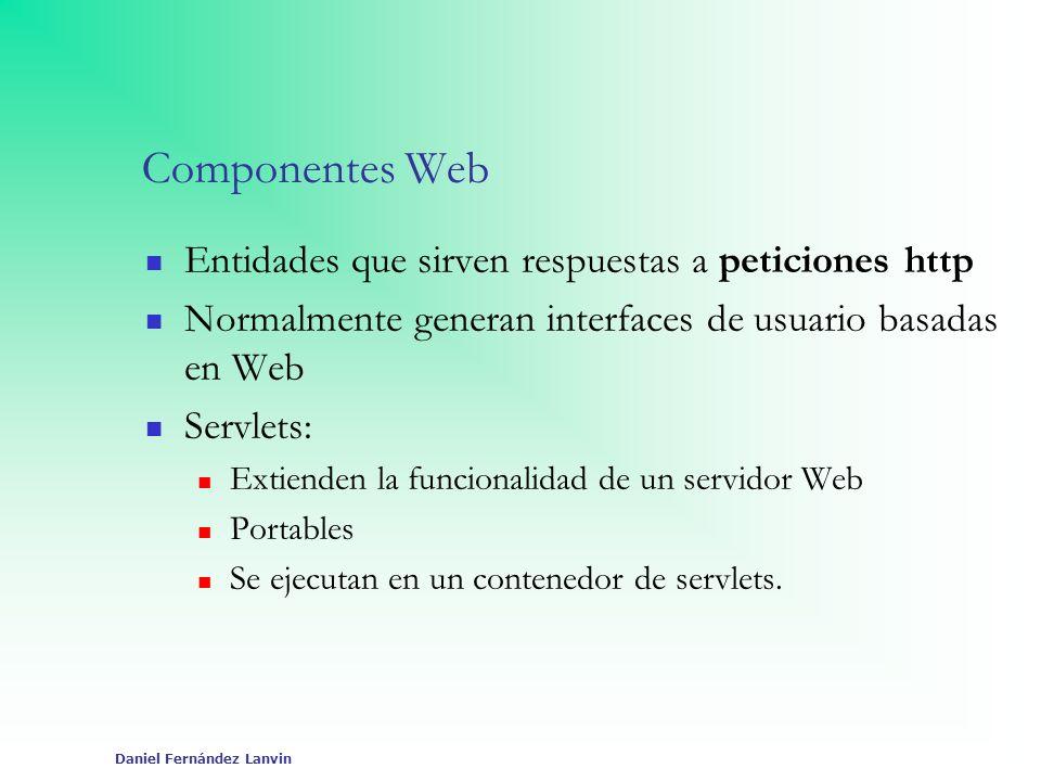 Componentes Web Entidades que sirven respuestas a peticiones http