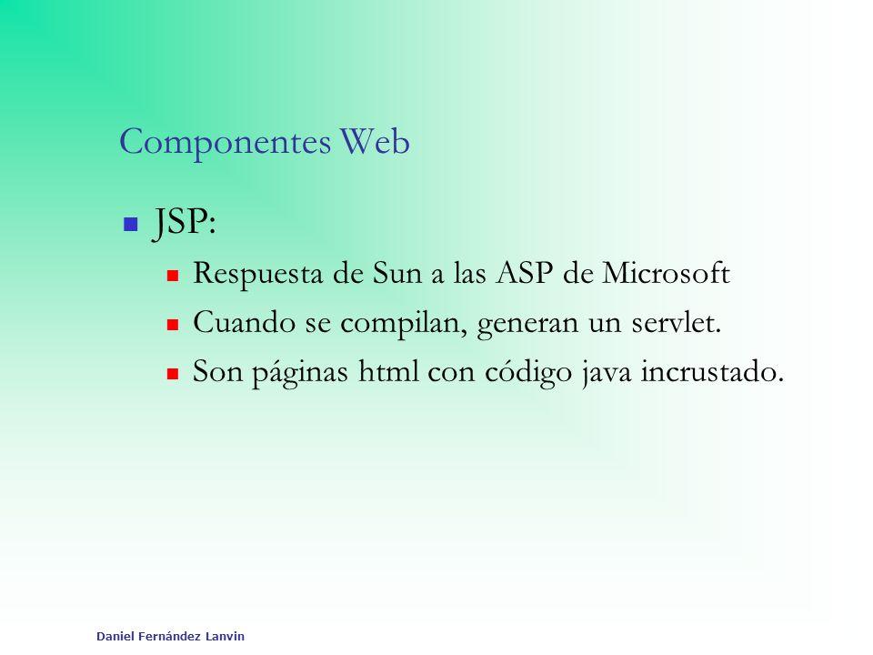 Componentes Web JSP: Respuesta de Sun a las ASP de Microsoft