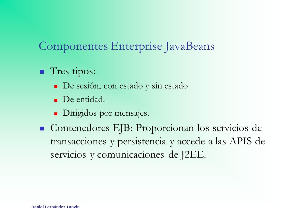 Componentes Enterprise JavaBeans