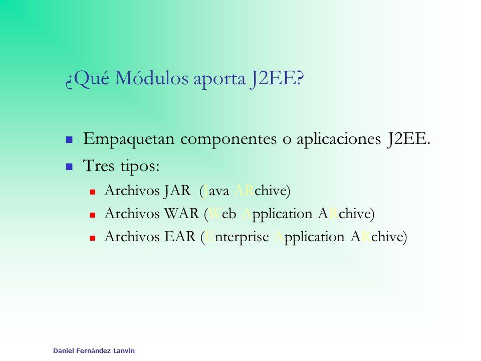¿Qué Módulos aporta J2EE