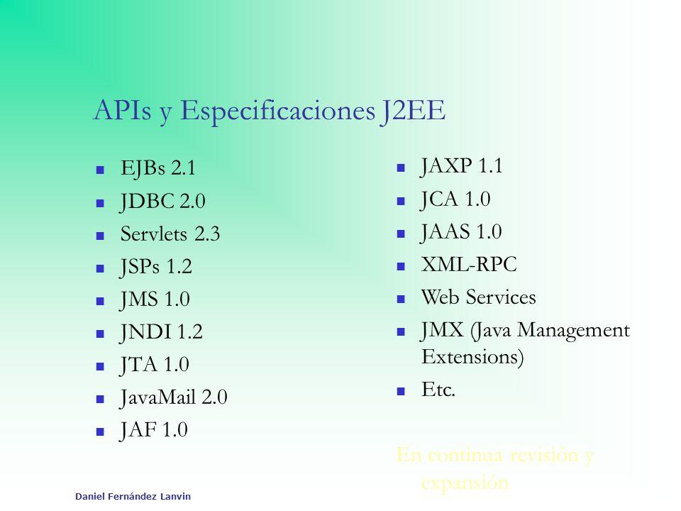 APIs y Especificaciones J2EE