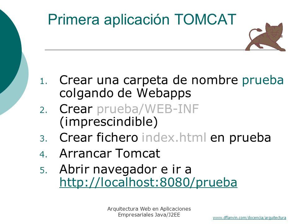 Primera aplicación TOMCAT