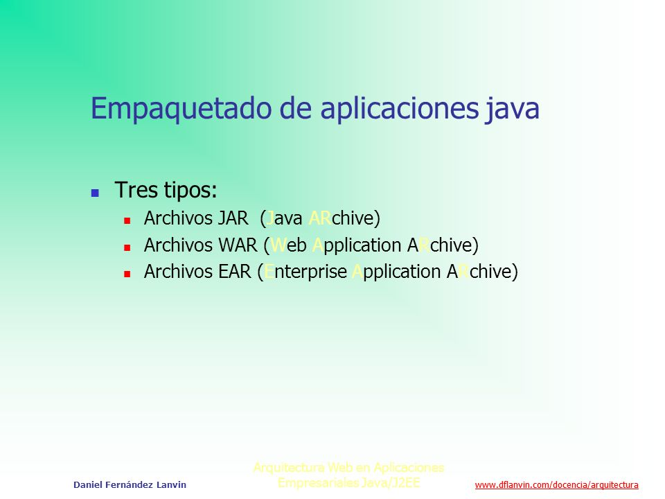 Empaquetado de aplicaciones java