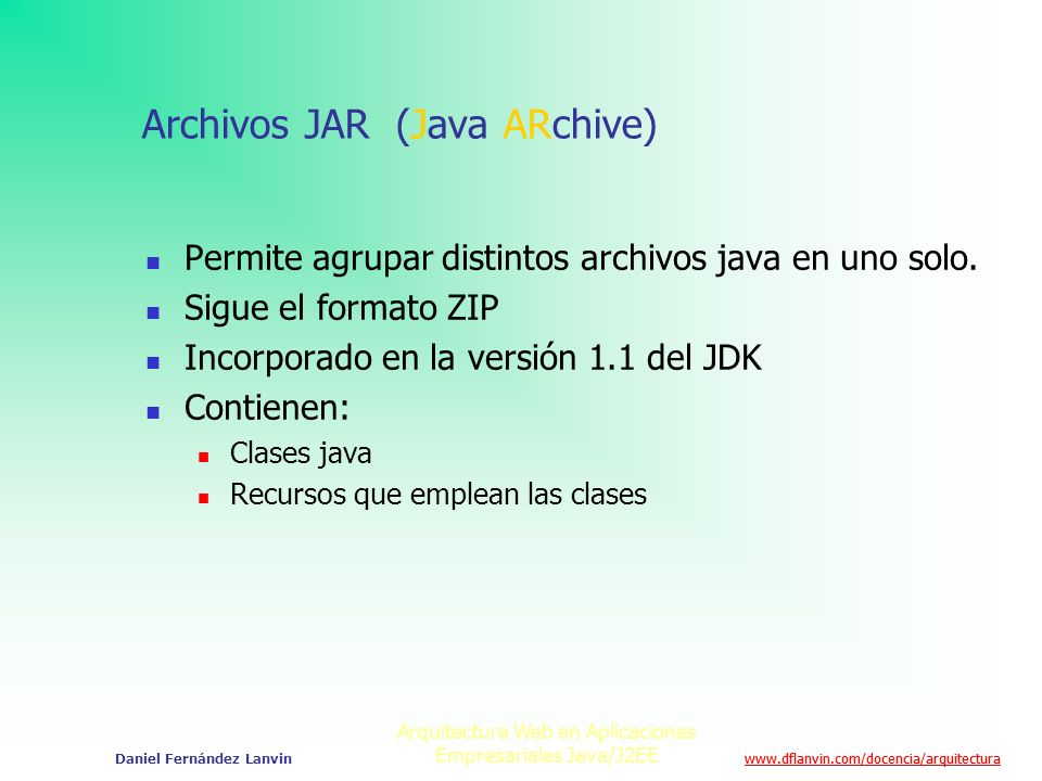 Archivos JAR (Java ARchive)