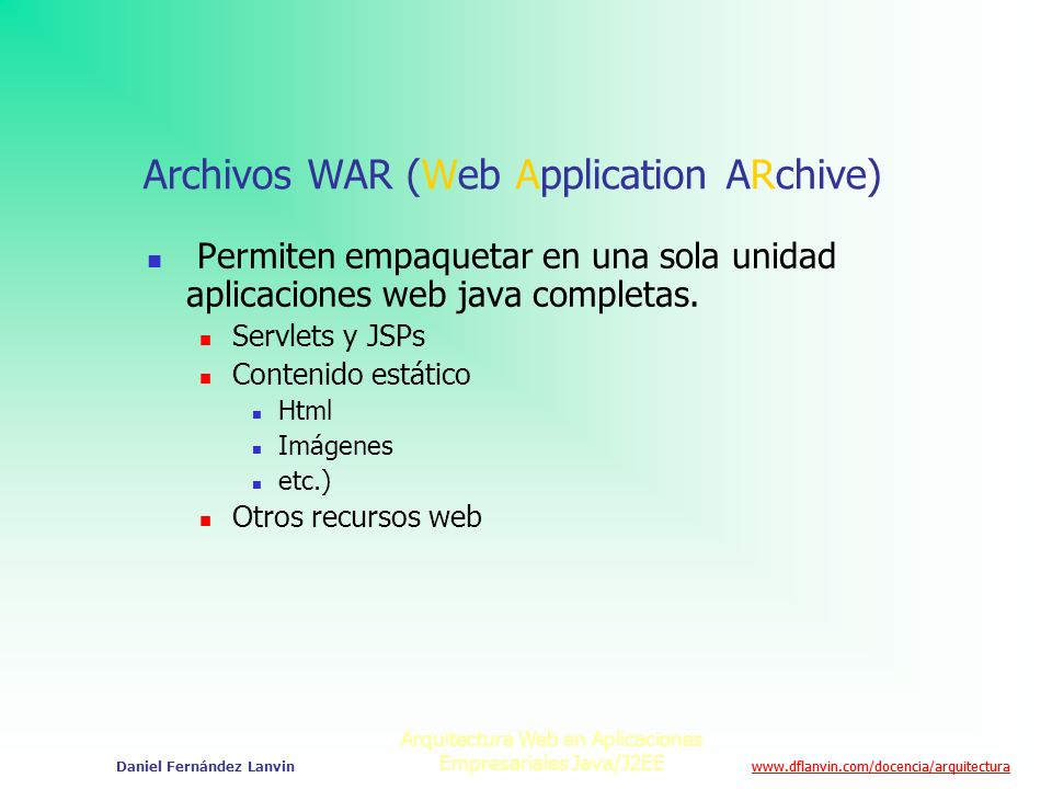 Archivos WAR (Web Application ARchive)