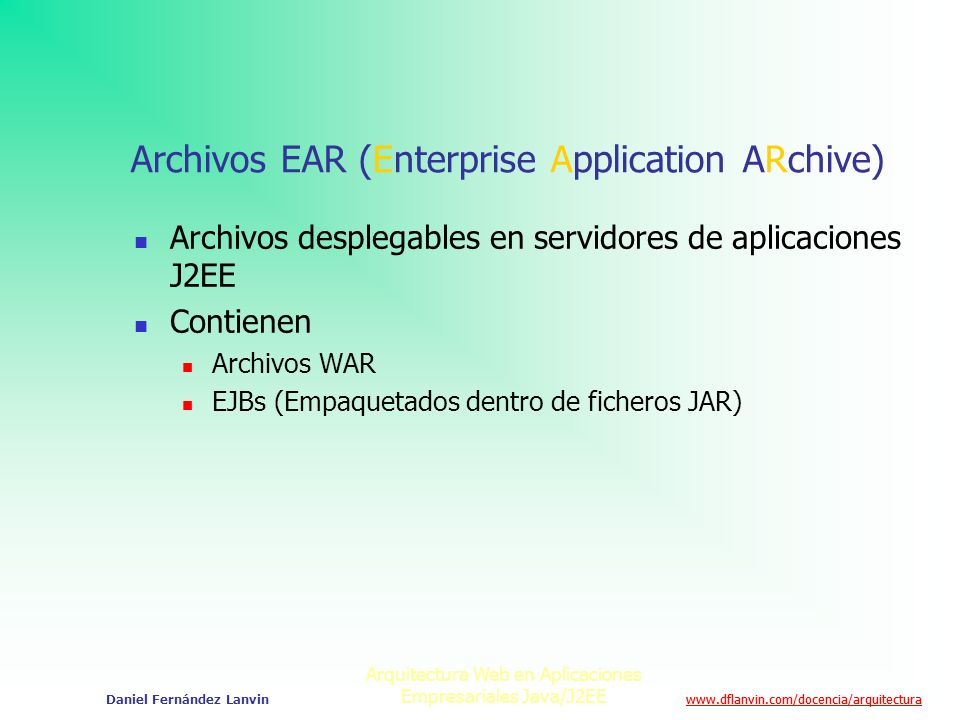 Archivos EAR (Enterprise Application ARchive)