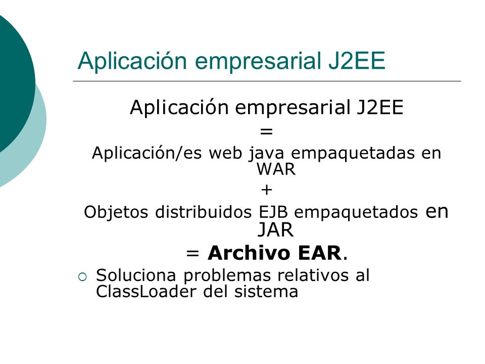 Aplicación empresarial J2EE
