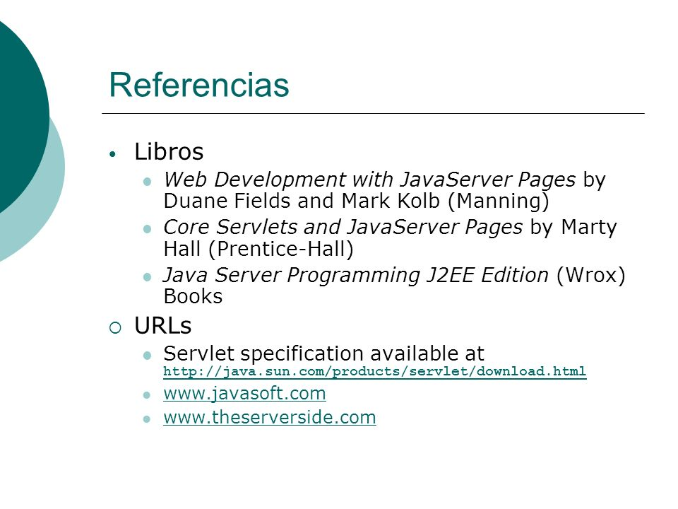 Referencias Libros URLs