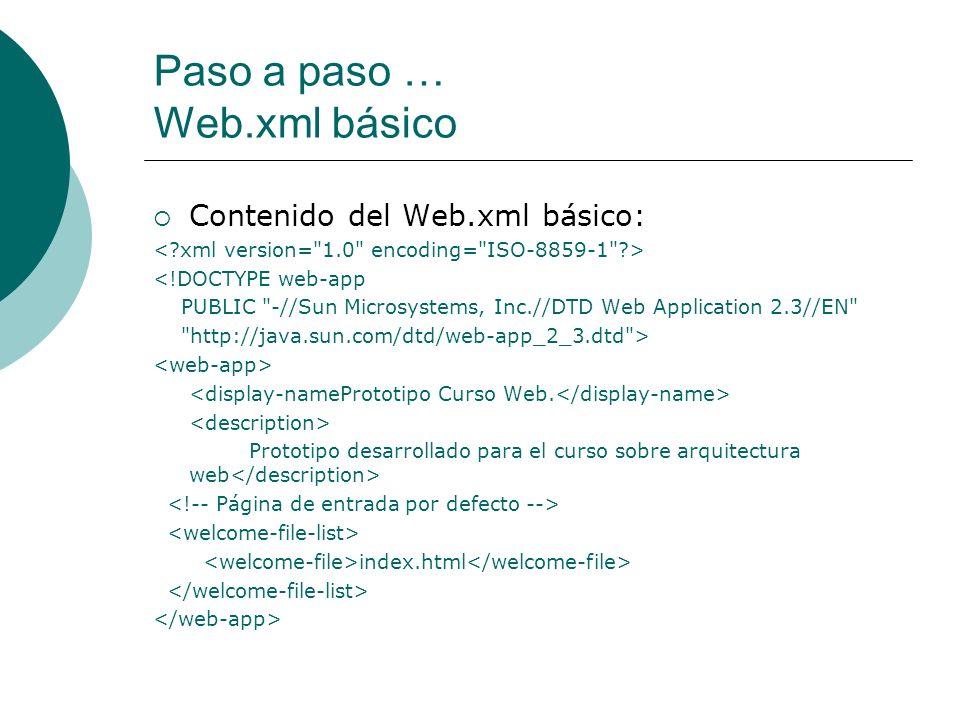 Paso a paso … Web.xml básico
