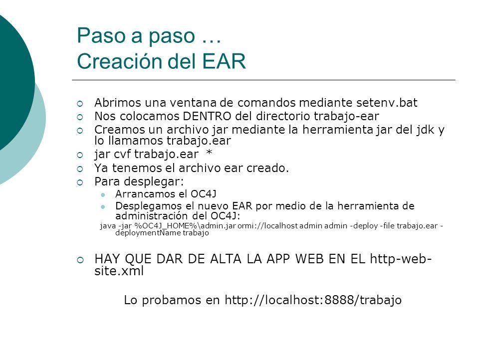 Paso a paso … Creación del EAR