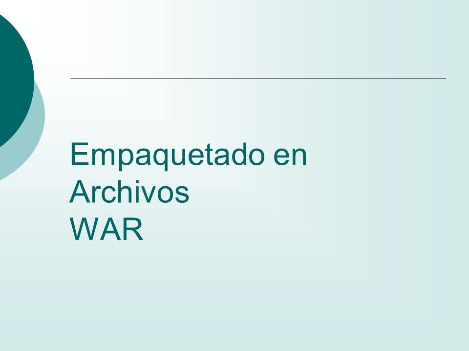 Empaquetado en Archivos WAR