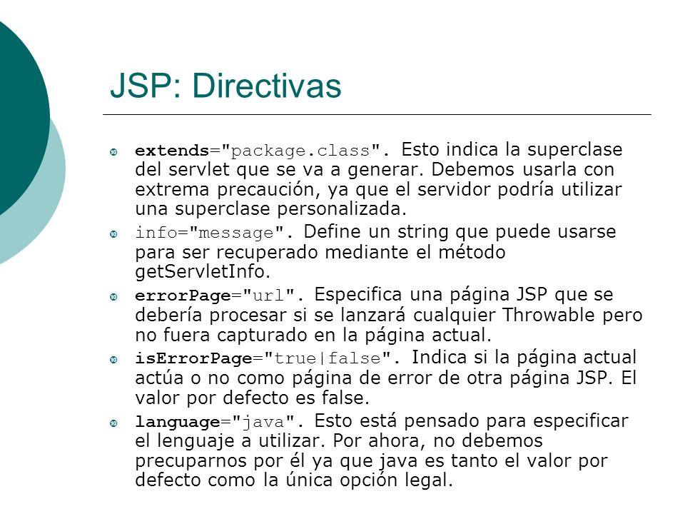 JSP: Directivas