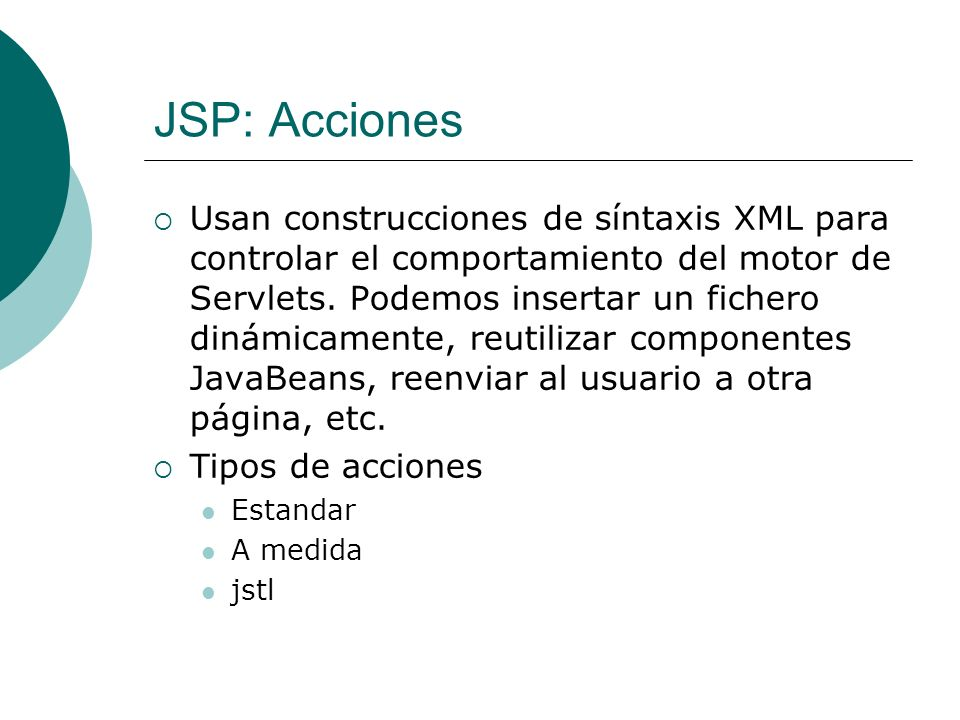 JSP: Acciones