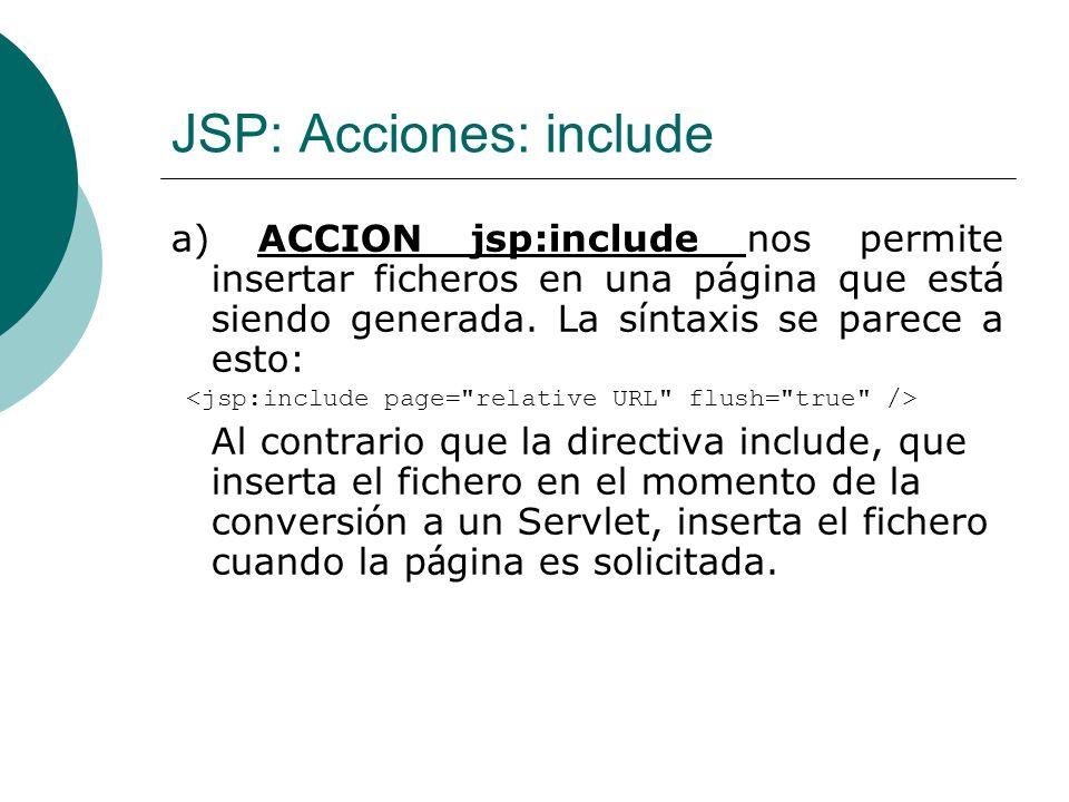 JSP: Acciones: include