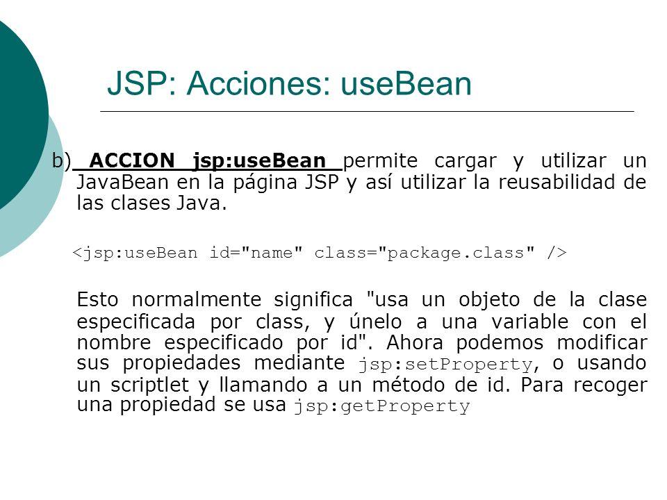 JSP: Acciones: useBean